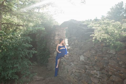Maternity Photography in RI and surrounding areas - rock wall background