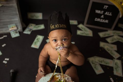 One Year Old and Cake Smash Professional Photography in RI and surrounding areas